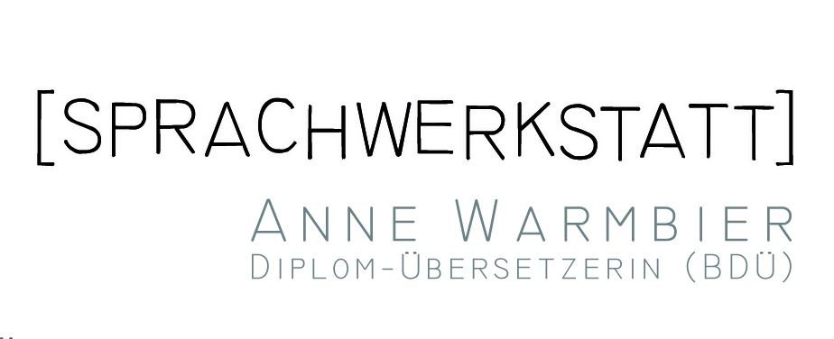 Logo der Sprachwerkstatt Anne Warmbier